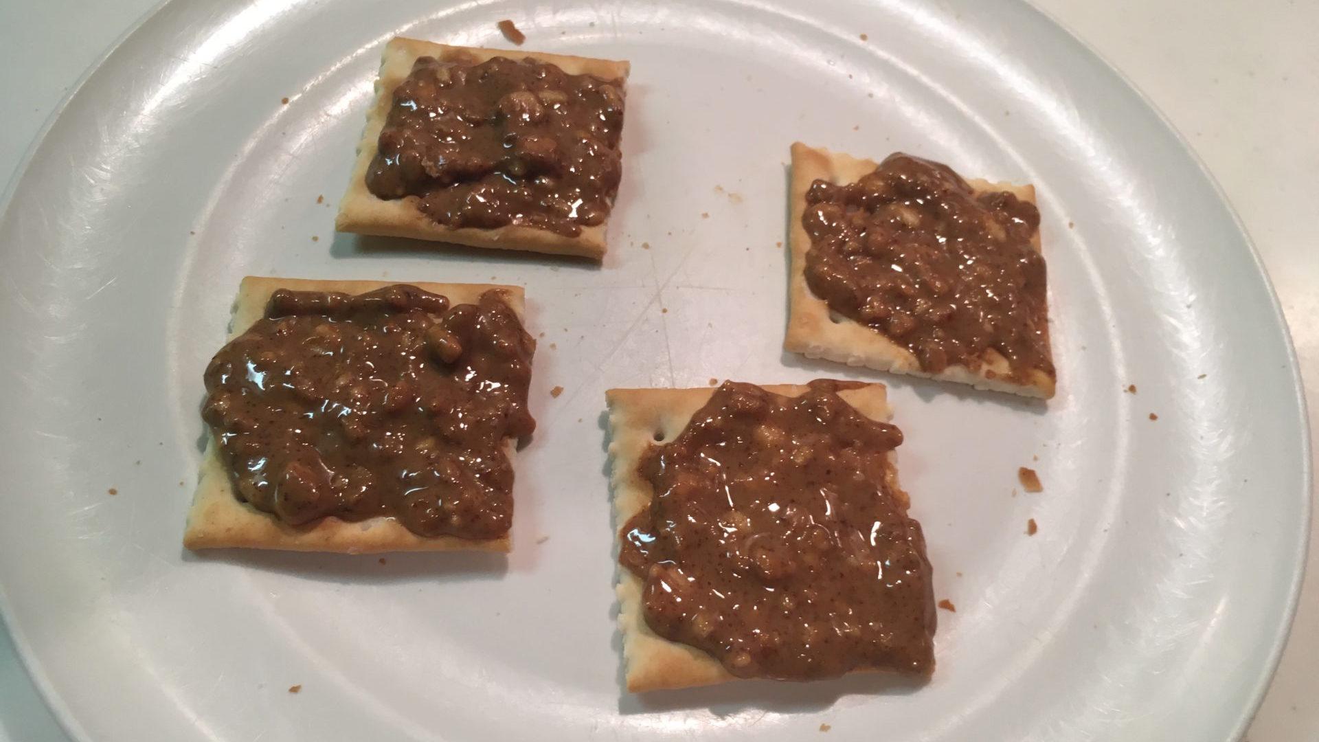 Snack cracker e burro di arachidi MyProtein