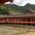 Itsukushima Jinja bassa marea