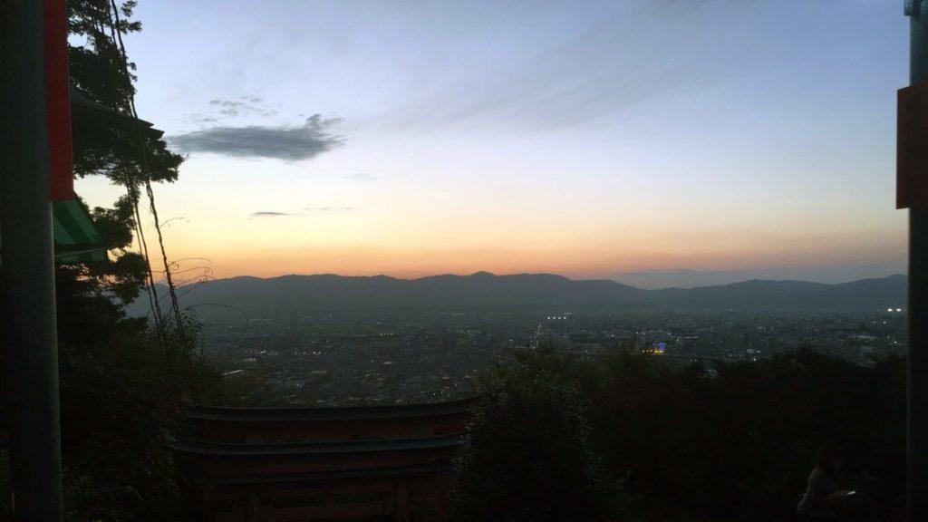 Fushimi Inari tramonto