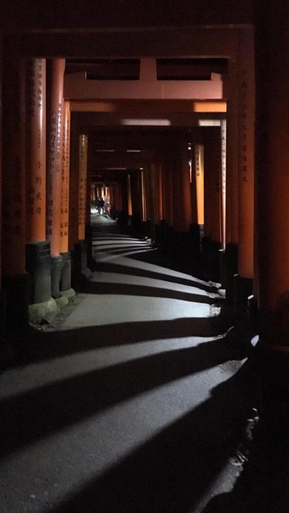 Fushimi Inari torii ombre