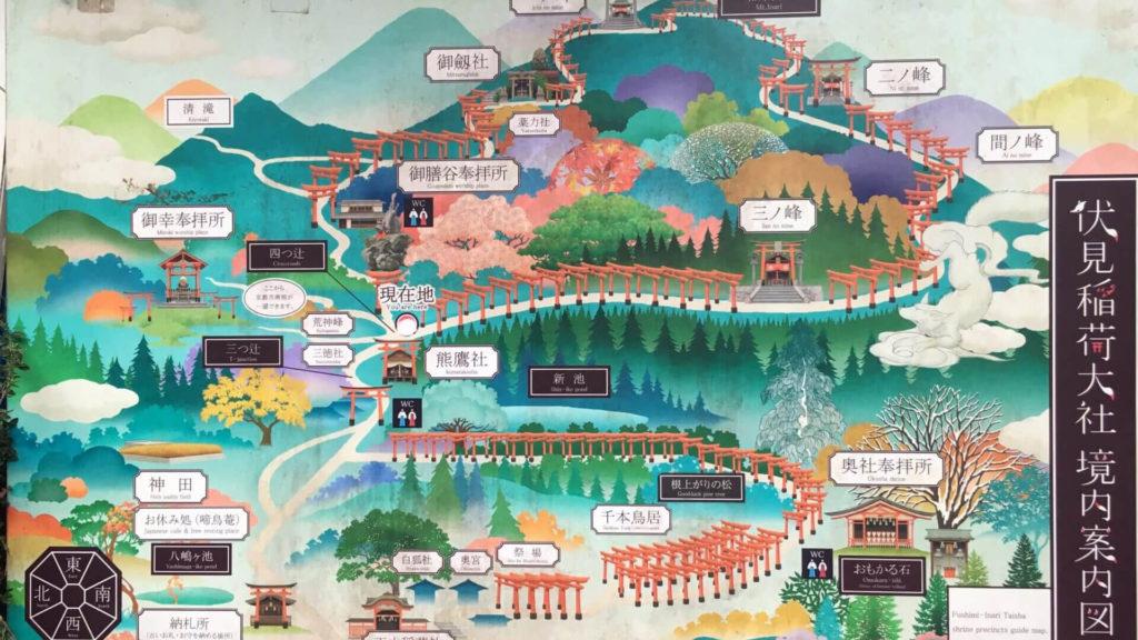 Fushimi Inari cartina